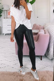 High Waisted Skinny PU Leggings