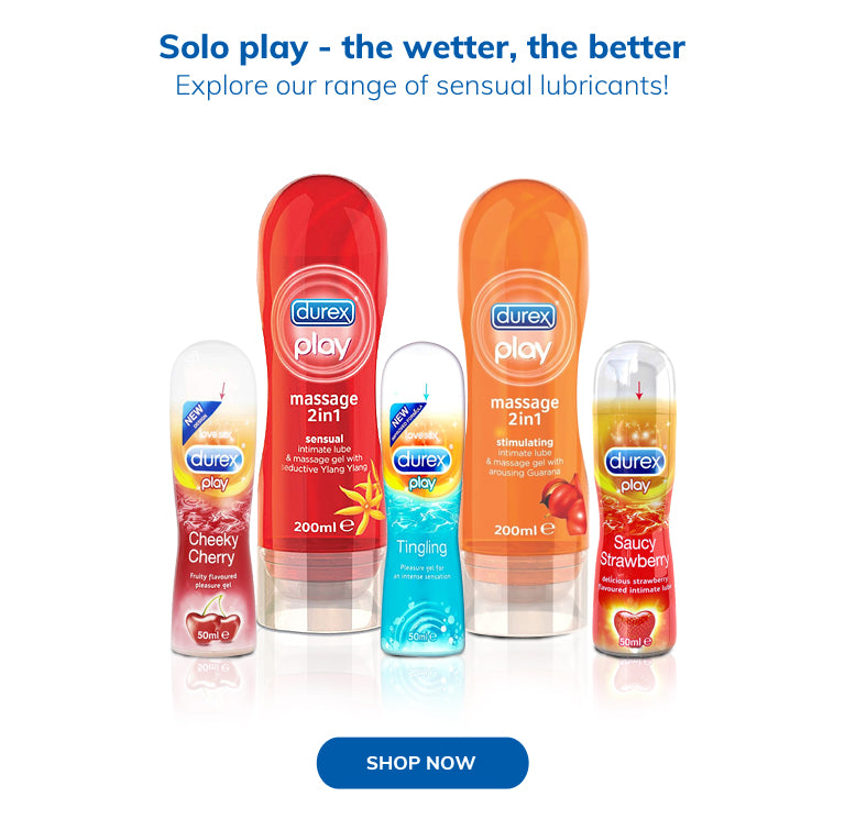 Solo play - the wetter, the better Explore our range of sensual lubricants!