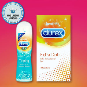 Pleasure Packs (Durex Tingling 50ml, Extra Dots 10 Units)