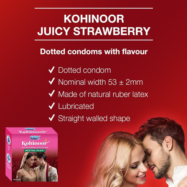 Kohinoor Condoms, Meetha Paan- 3 Units