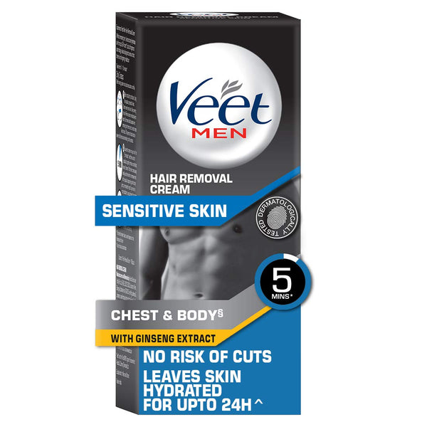 Veet Hair removal cream for men sensitive skin 100g with Durex Air condom 10s
