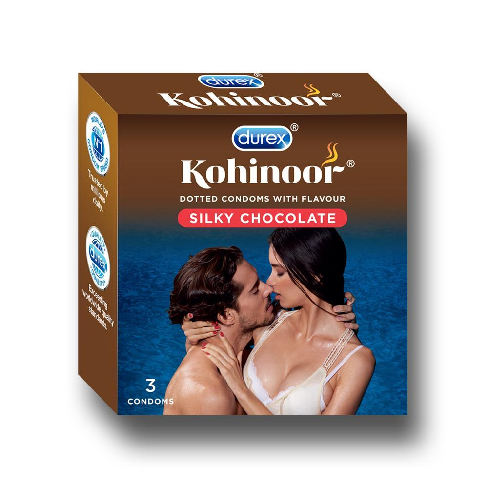 Kohinoor Condoms, Silky Chocolate- 3 Units