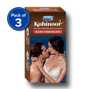 Durex Kohinoor Silky Chocolate - 10 condoms (Pack of 3)