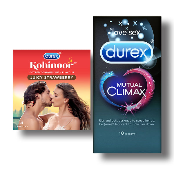 Kohinoor Condoms, Juicy Strawberry- 3 Units with Mutual Climax 10s