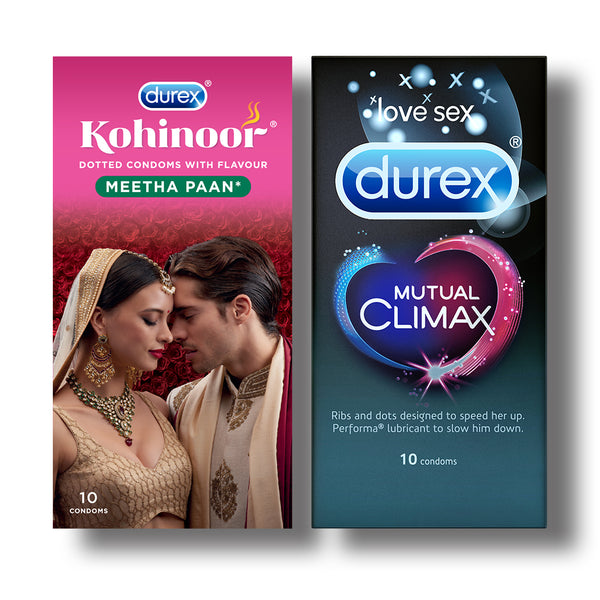 Kohinoor Condoms, Meetha Paan- 10 Units with Mutual Climax 10s