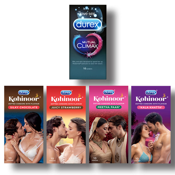Kohinoor Condoms All  Variants with Mutual Climax 10s