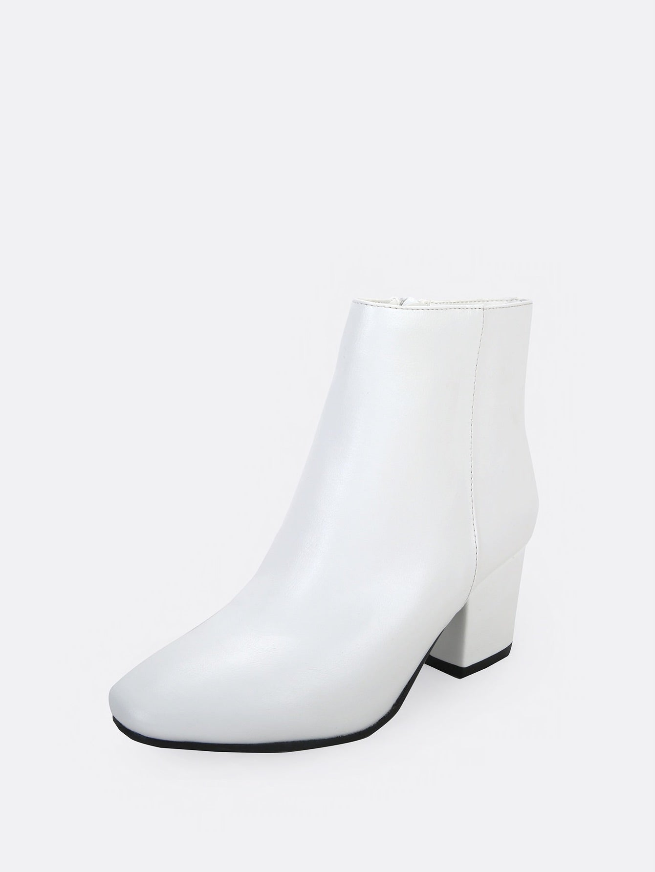 White Low Heel Ankle Boots – Love On