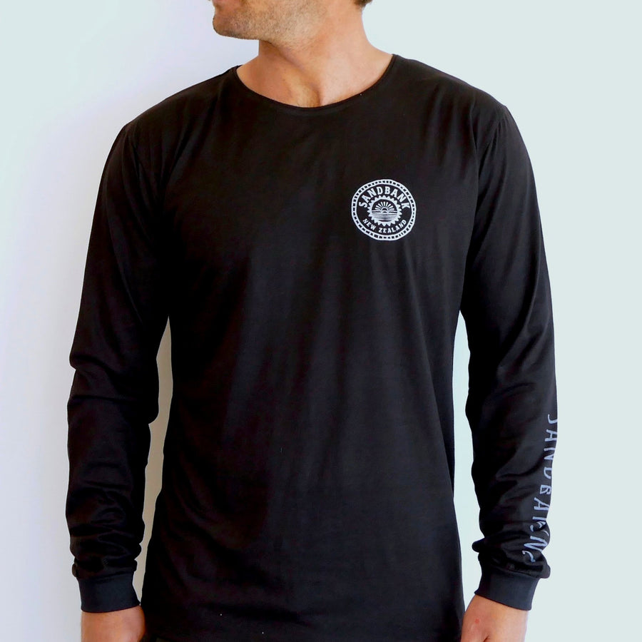 Mens long sleeve shirt bamboo material snowboarding long sleeve shirt surfing long sleeve tee all black casual shirt