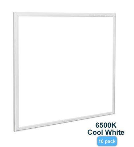 10 PACK 48w Recessed Ceiling LED Panel 6500K Pure White 600 x 600