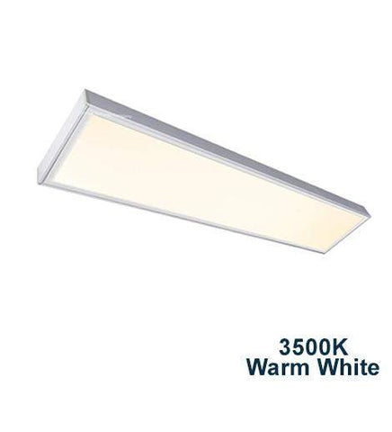 40w Surface Mount LED Panel 3500K Warm White Light 1200 x 300
