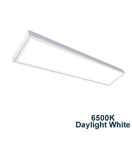 40w Surface Mount LED Panel 6500K Daylight White 1200 x 300