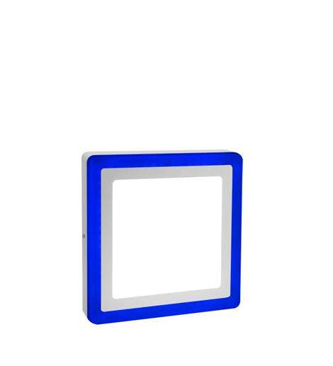 18w Surface Mount Ceiling LED Square Panel Blue  245 x 245