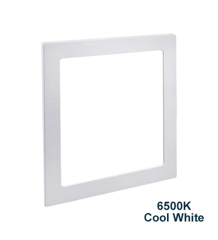 18w Recessed Ceiling LED Square Panel 6500K Cool White 225 x 225