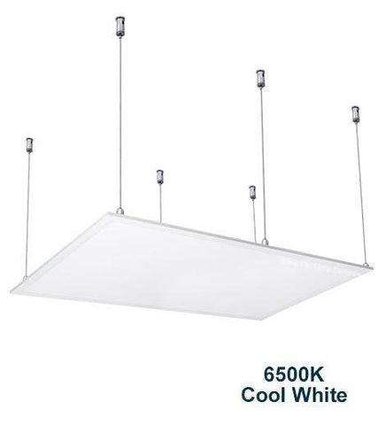 72w Hanging Ceiling LED Panel 6500K Cool White 1200 x 600