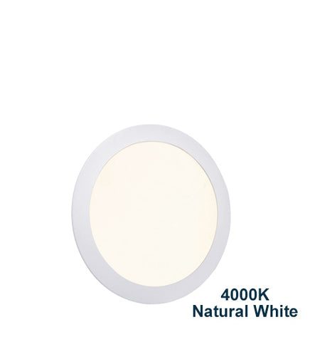 18w Recessed Ceiling LED Round Panel 4000k Natural Cool White 225mm
