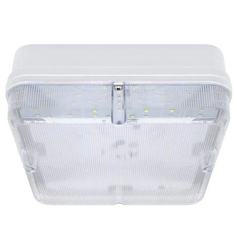 Square 18w LED Ceiling Light Flush Mount IP65 6500k Bulkhead 0841S