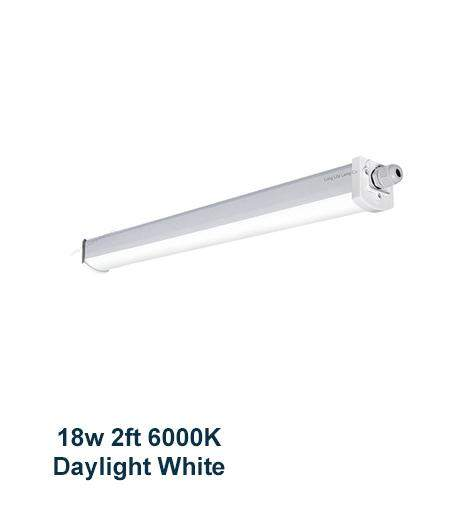 18w 2 feet LED Ceiling Batten Light Triproof Fitting IP66 6000K
