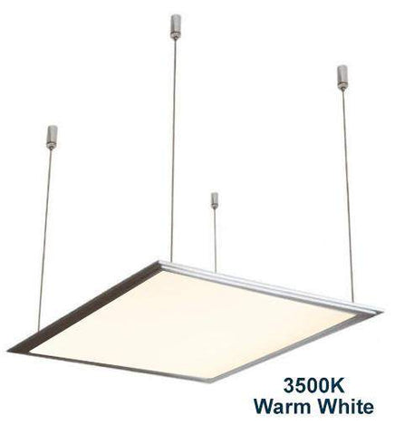 48w Hanging Ceiling LED Panel 3500K Warm White 600 x 600