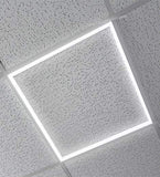2 pack 600 x 600 40w LED Edge Lit Border Recessed Ceiling Light 6500k Cool White