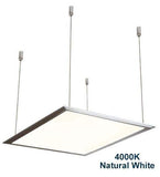 48w Hanging Ceiling LED Panel 4000K Natural White 600 x 600