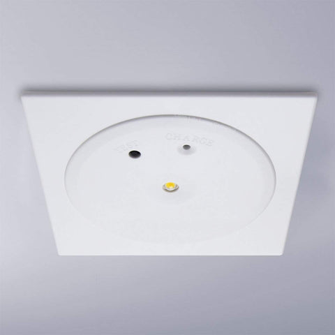 3w LED Emergency Ceiling Square Flat Panel Non-Maintained 180 Minutes