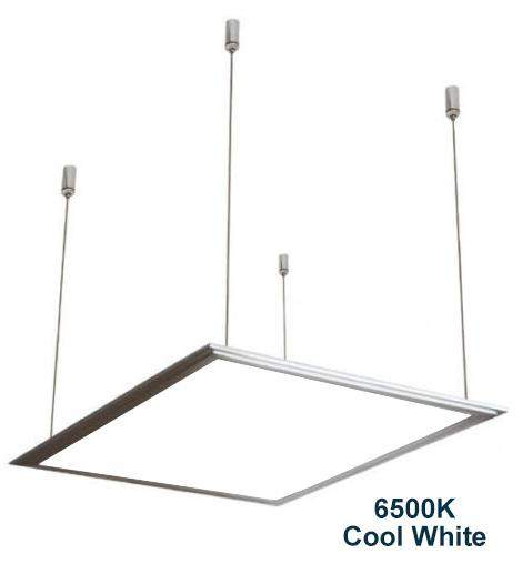 48w Hanging Ceiling LED Panel 6500K Cool White 600 x 600 PMMA