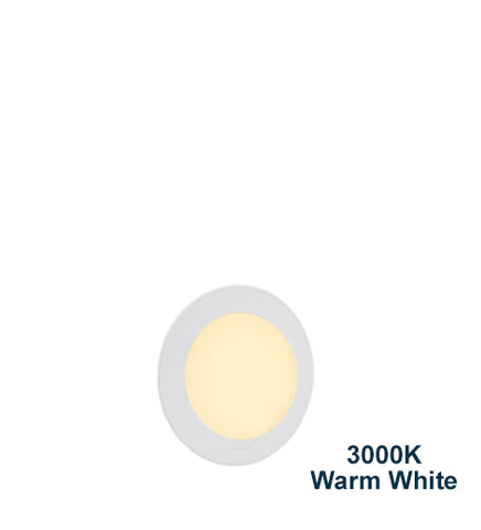 6w Recessed Ceiling LED Round Panel 3000K Warm White 120mm