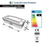 3w LED Emergency Light Non-Maintained/Maintained 180 Minutes EML02