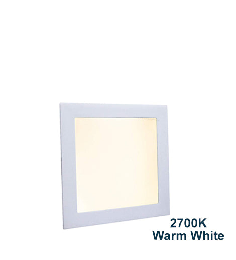 18w Recessed Ceiling LED Square Panel 2700K Warm White 225 x 225