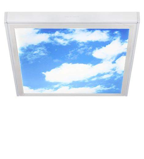 40w Surface Mount Ceiling LED Sky Panel White Frame 600 x 600