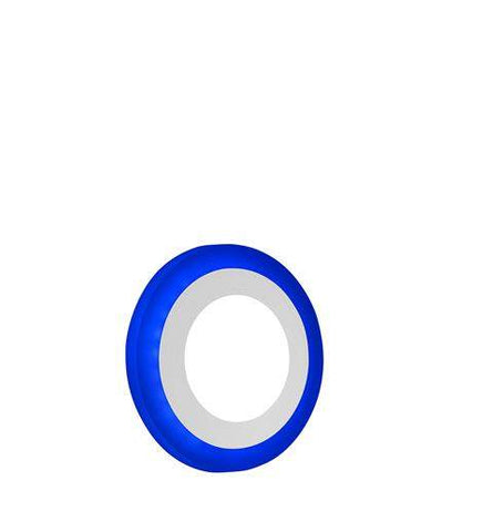 6w Blue Ring Recessed Ceiling LED Round Panel 145mm