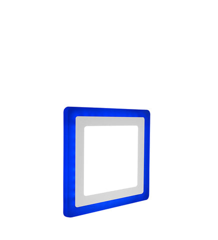 12w Recessed Ceiling LED Square Panel Blue 192 x 192