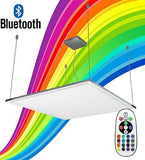 40w RGB Bluetooth Ceiling Hanging Panel Remote and App Controlled 600 x 600