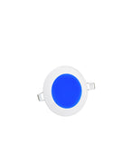 6w Recessed Ceiling LED Round Panel Blue 120mm