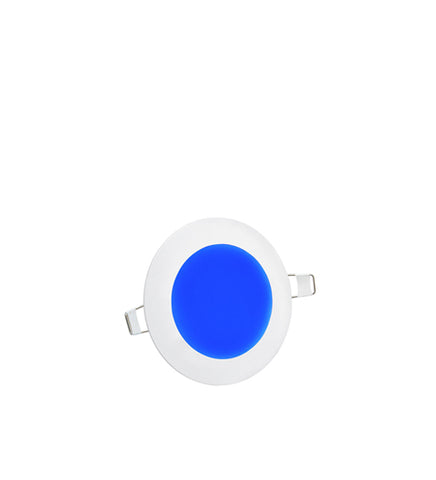 6w Blue LED Recessed Ceiling Panel Round 120mm