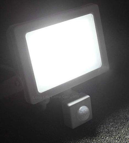 20w Outdoor LED PIR Floodlight White Body IP65  Cool White 6000k