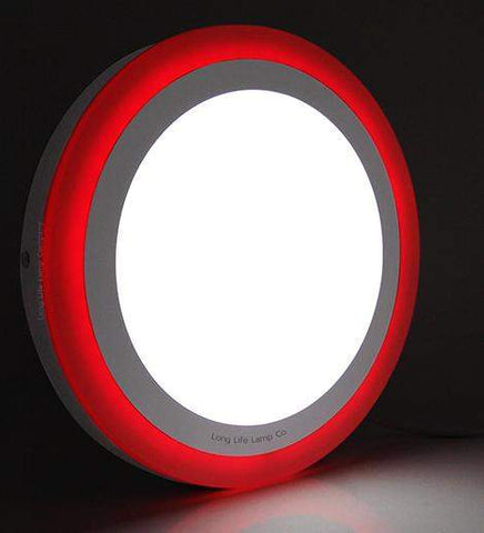 18w Surface Mount LED Round Panel Red 247mm