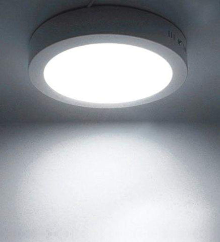 18w Surface Mount LED Round Panel 7000K Cool White 225mm