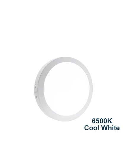 18w Surface Mount LED Round Panel 6500K Cool White 225mm