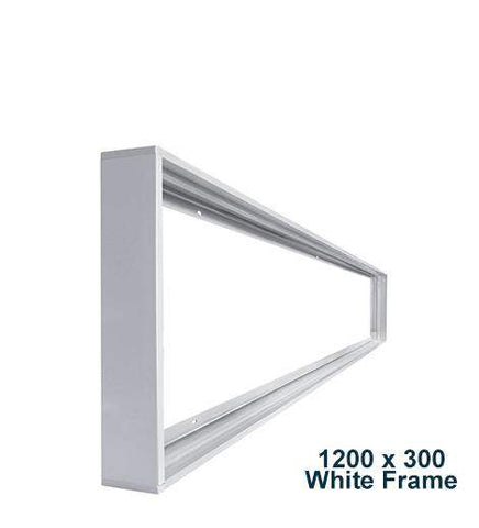 LED Panel Surface Mounting Frame Box Kit For Ceiling Panel 1200 x 300 White Body
