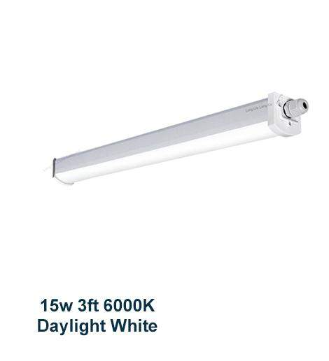 15w 3 feet LED Ceiling Batten Light Triproof Fitting IP66 6000K