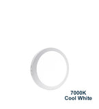 12w Surface Mount LED Round Panel 7000K Cool White 165mm