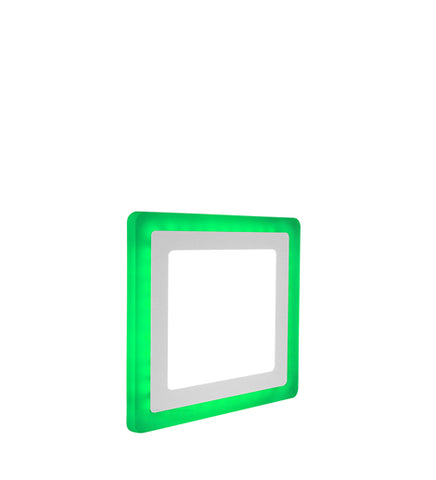 12w Recessed Ceiling LED Square Panel Green 192 x 192