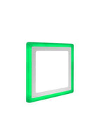 18w Recessed LED Square Panel Green 242 x 242