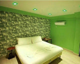 6w Recessed Ceiling LED Square Panel Green 142 x 142