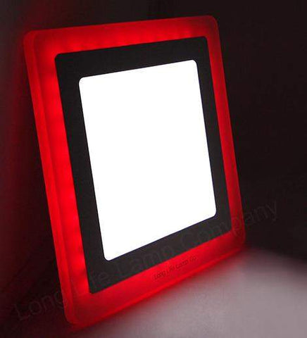 12w Recessed Ceiling LED Square Panel Red 192 x 192