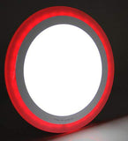 18w Recessed Ceiling LED Round Panel Red 242mm