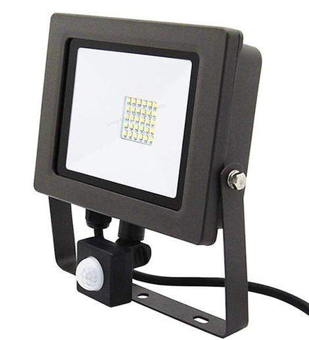 30w Outdoor LED PIR Floodlight IP65 Waterproof Cool White 6000k