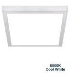 48w Surface Mount LED Square Panel 6500K Cool White 600 x 600