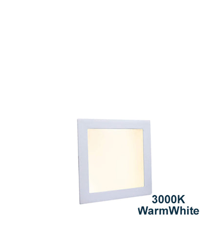 6w Recessed Ceiling LED Square Panel 3000K Warm White 120 x 120